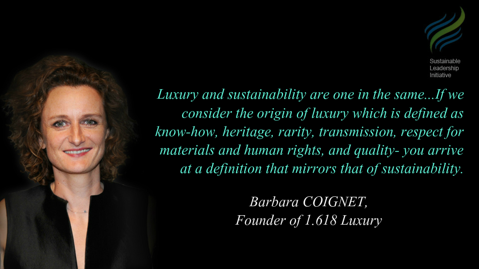 1.618's Barbara Coignet interview on Sustainable Luxury